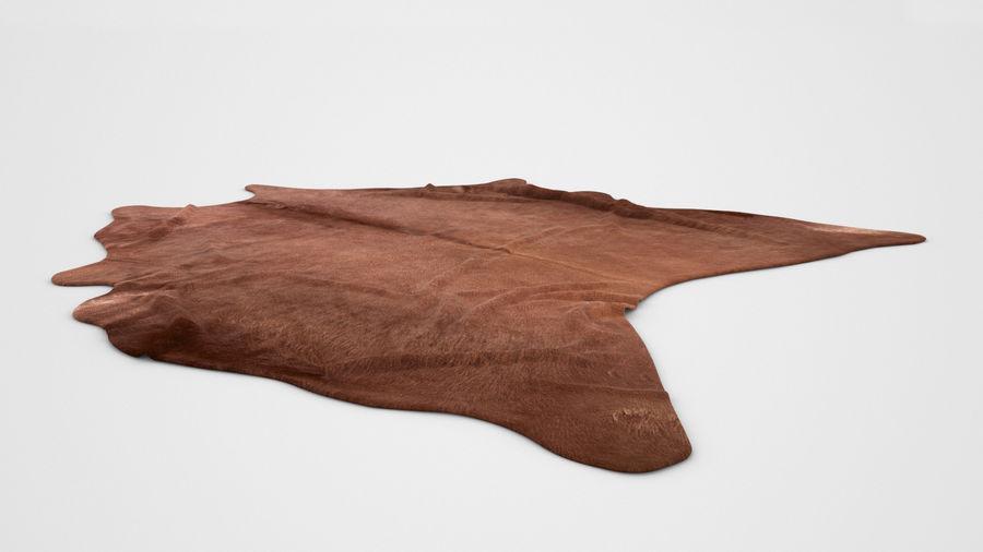 Ikea koldby brown cow hide carpet rug for photorealistic interior