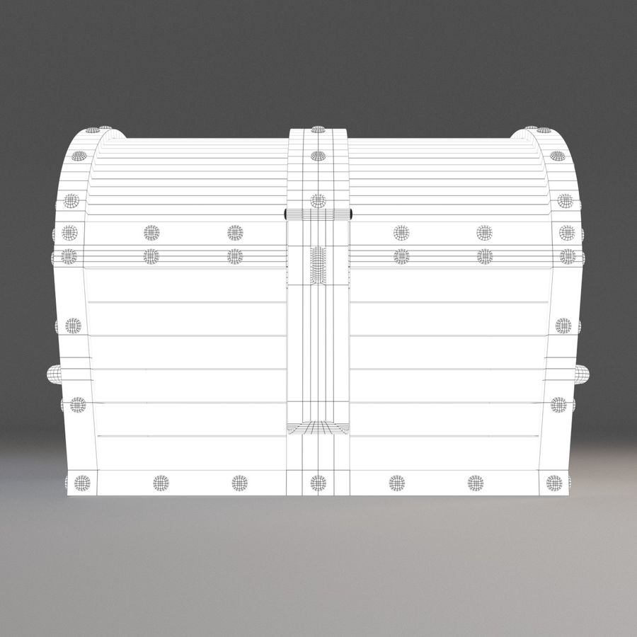 Old Chest royalty-free 3d model - Preview no. 5