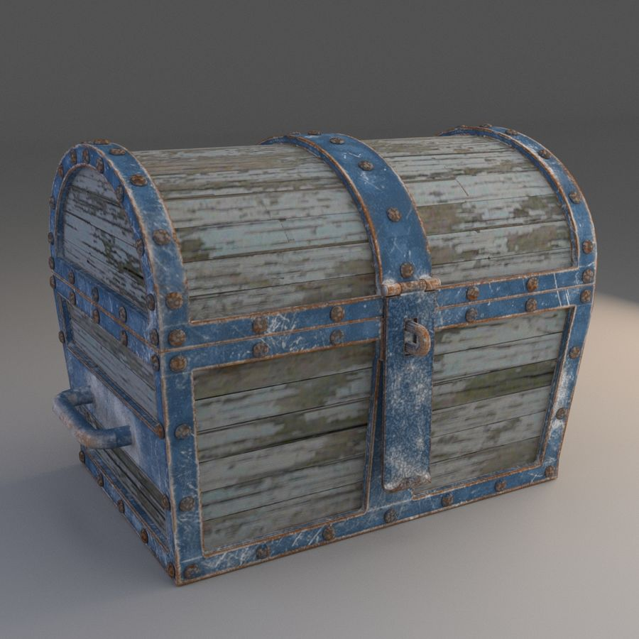 Old Chest royalty-free 3d model - Preview no. 1