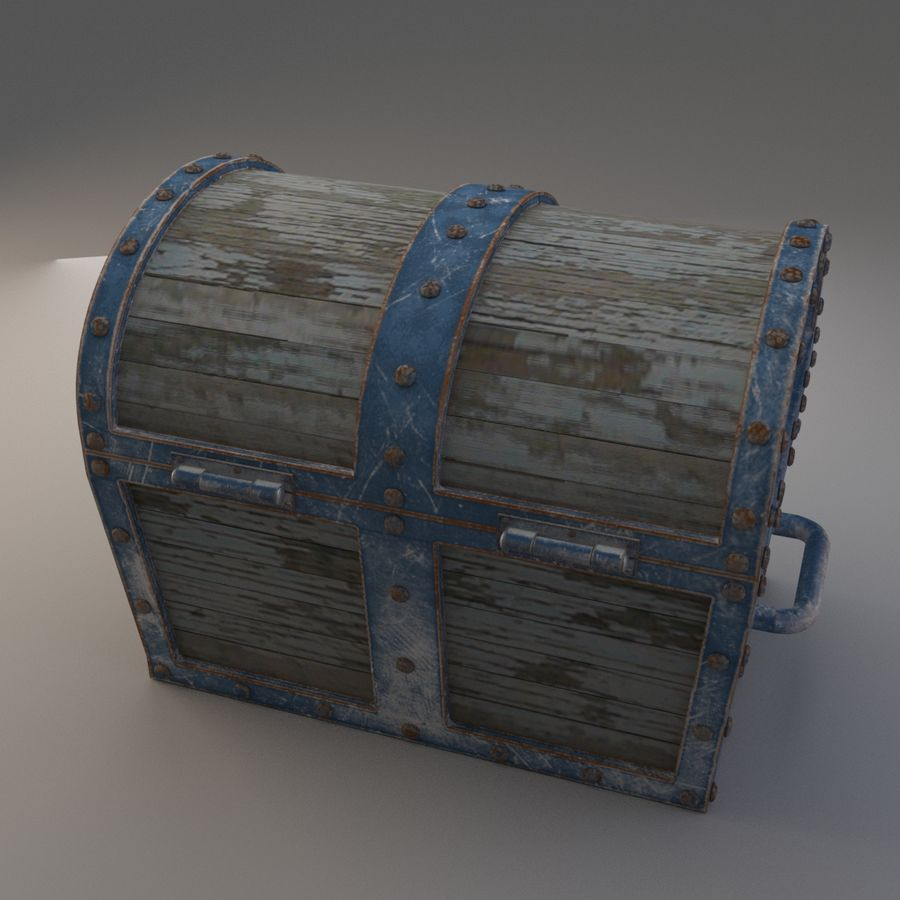 Old Chest royalty-free 3d model - Preview no. 2