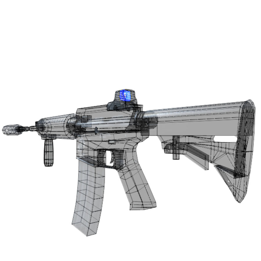 Custom Assault Rifle royalty-free 3d model - Preview no. 6