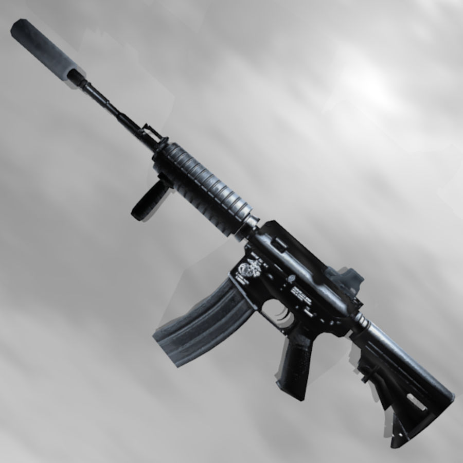 Custom Assault Rifle royalty-free 3d model - Preview no. 3