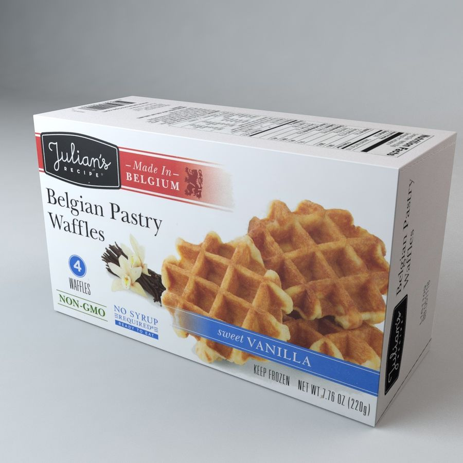 Belgian Pastry Waffles royalty-free 3d model - Preview no. 1