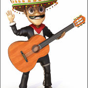Mariachi Cartoon 3d model