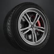 Tire Yokohama avs es100 + Brembo brake system 3d model