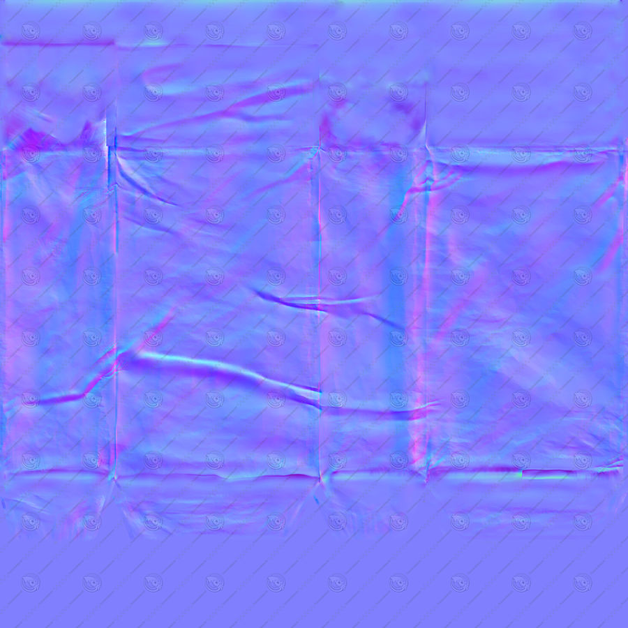 White Paper Bag royalty-free 3d model - Preview no. 14