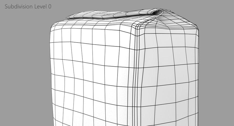 White Paper Bag royalty-free 3d model - Preview no. 11