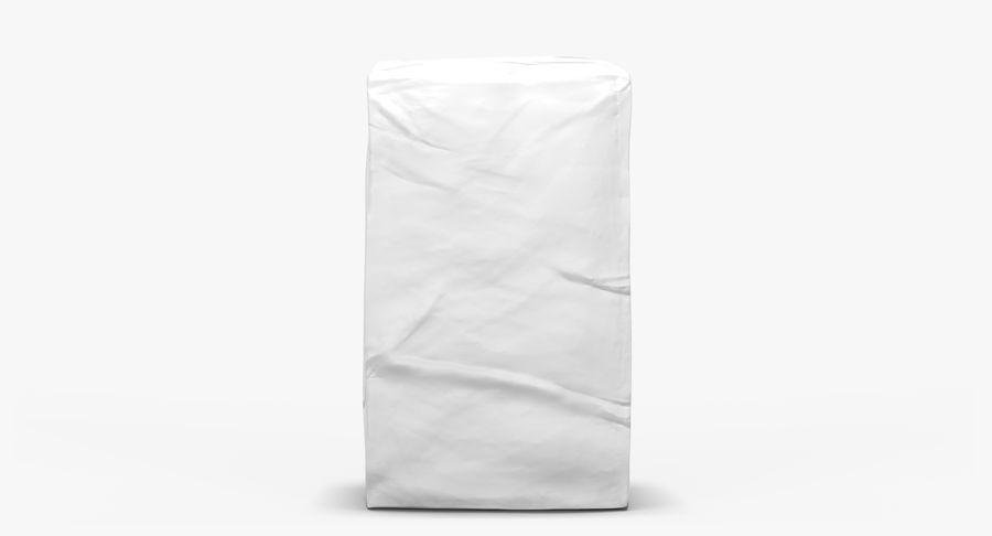 White Paper Bag royalty-free 3d model - Preview no. 2