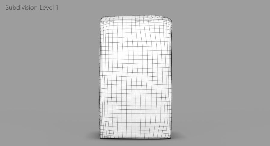 White Paper Bag royalty-free 3d model - Preview no. 10