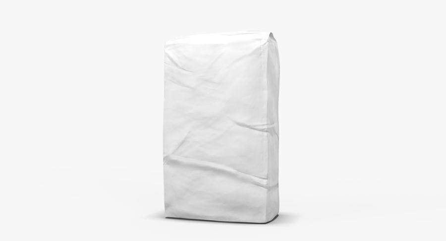 White Paper Bag royalty-free 3d model - Preview no. 5