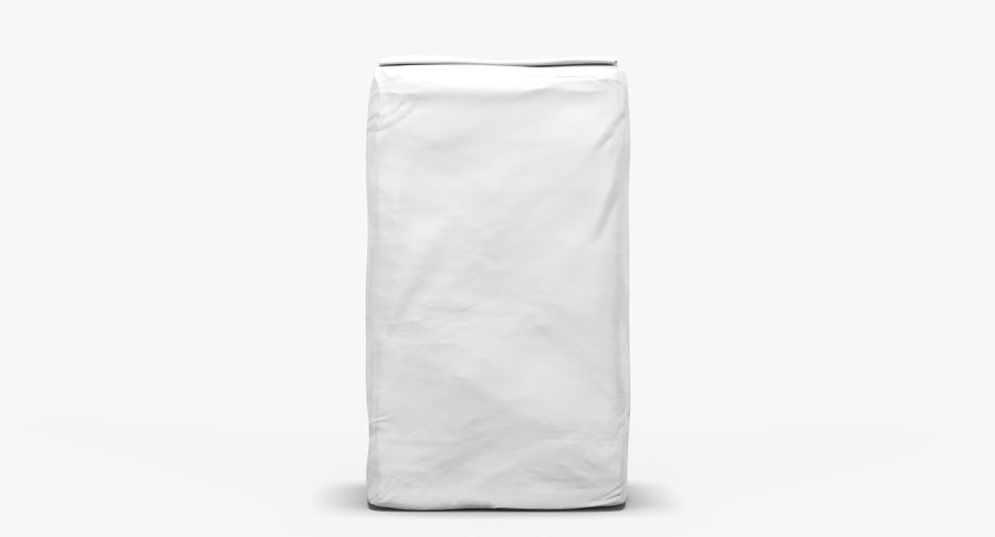 White Paper Bag royalty-free 3d model - Preview no. 4
