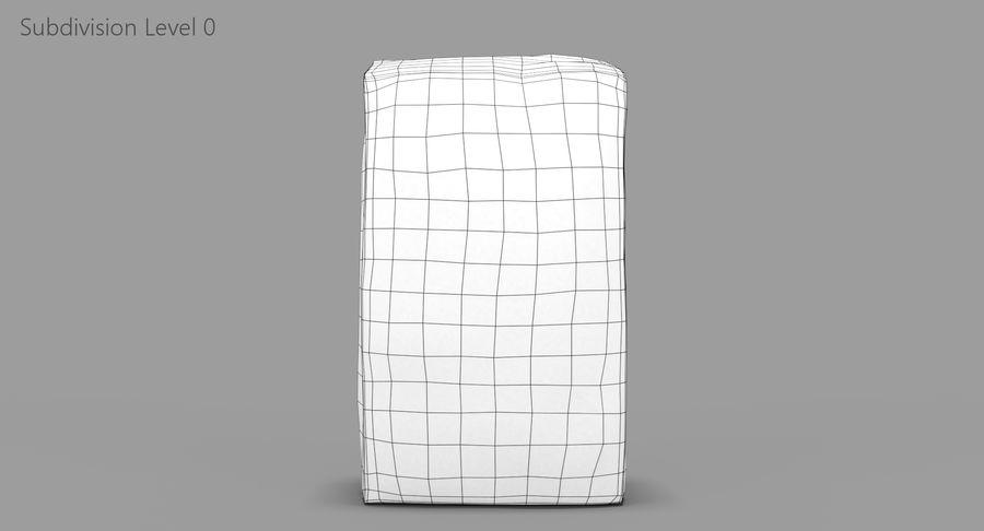 White Paper Bag royalty-free 3d model - Preview no. 9
