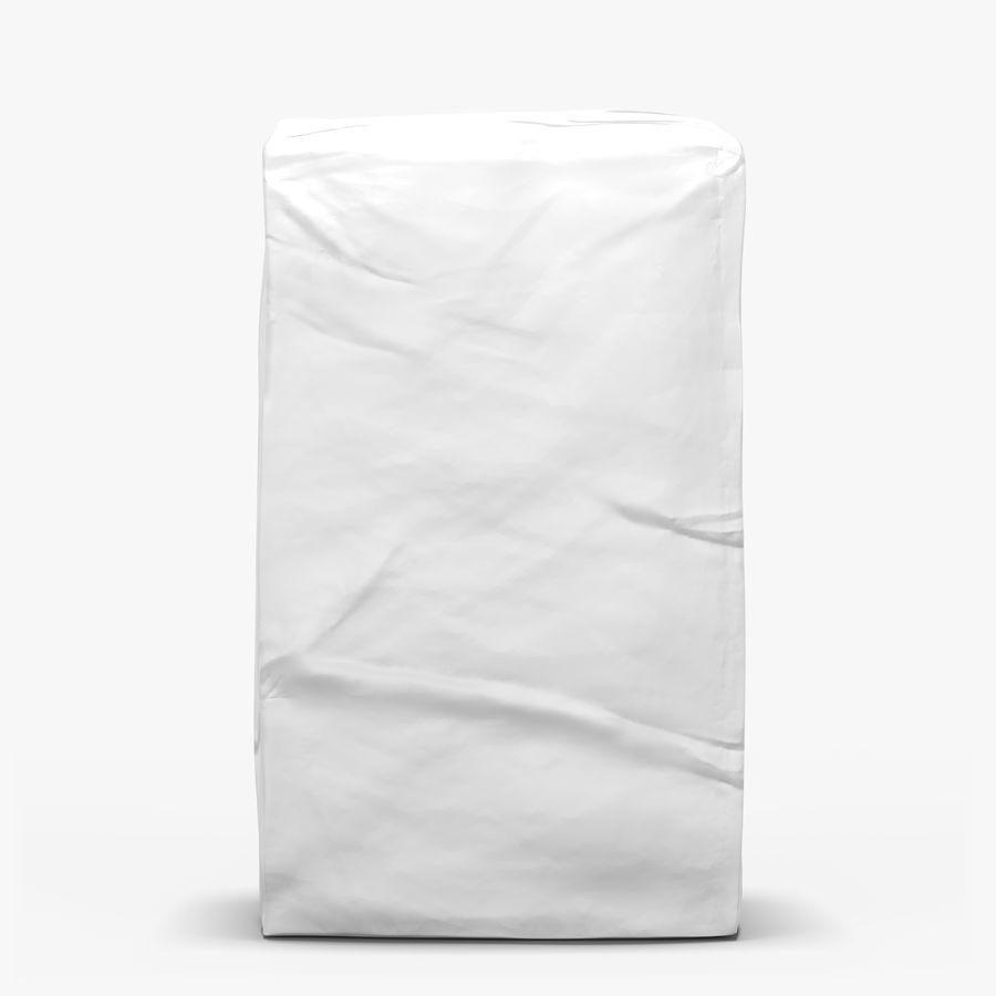 White Paper Bag royalty-free 3d model - Preview no. 1