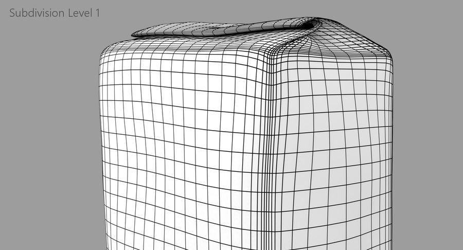 White Paper Bag royalty-free 3d model - Preview no. 12