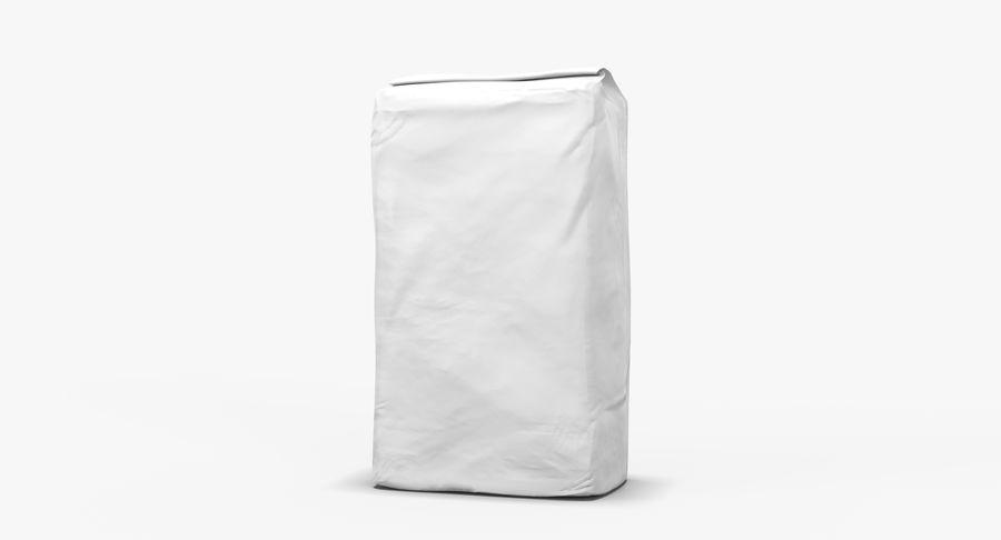 White Paper Bag royalty-free 3d model - Preview no. 6