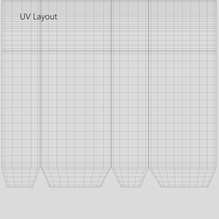 White Paper Bag royalty-free 3d model - Preview no. 13