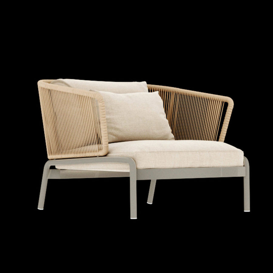 Outdoor Furniture RODA SPOOL Sofa Royalty Free 3d Model   Preview No. 4