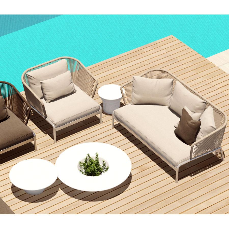 Outdoor Furniture Roda Spool Sofa Royalty Free 3d Model Preview No 3