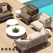 Outdoor furniture RODA SPOOL sofa 3d model