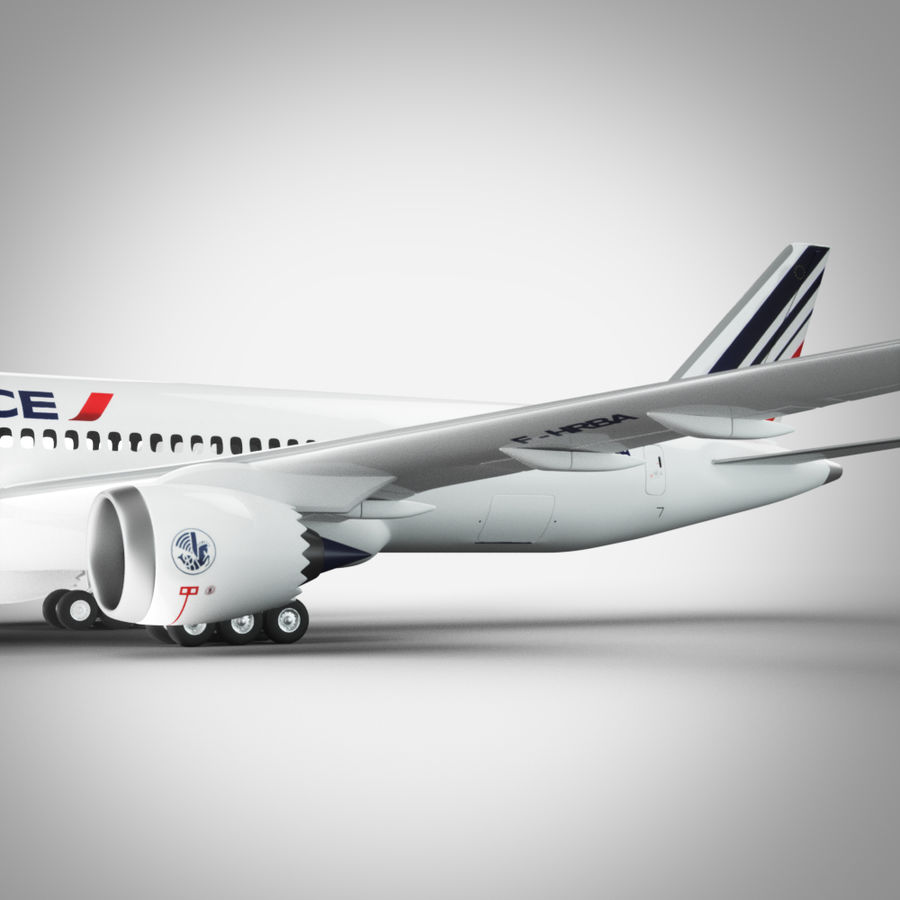 Boeing 787 Air France royalty-free 3d model - Preview no. 6