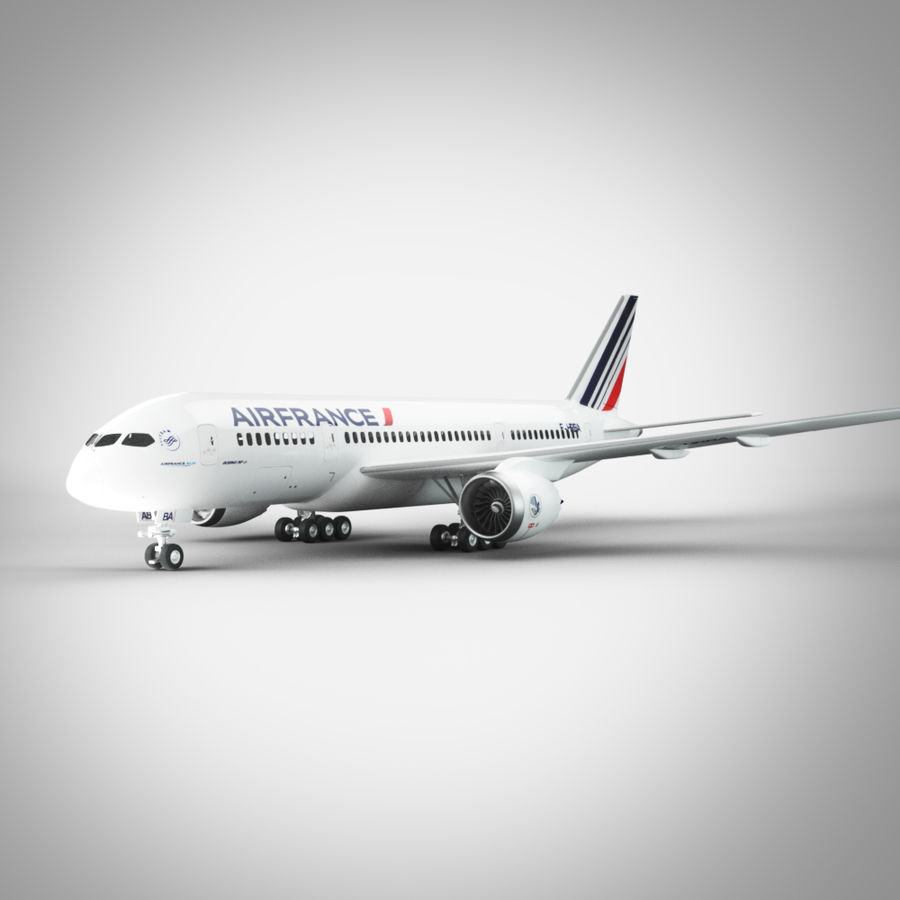 Boeing 787 Air France royalty-free 3d model - Preview no. 3