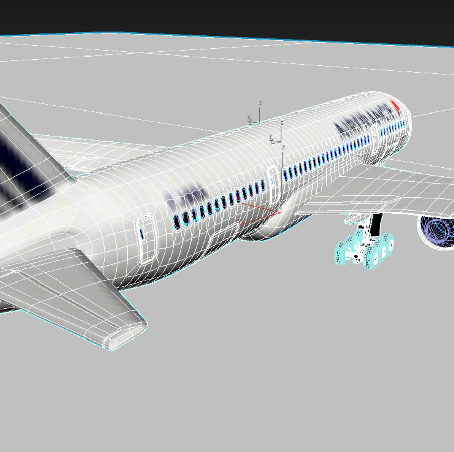 Boeing 787 Air France royalty-free 3d model - Preview no. 7
