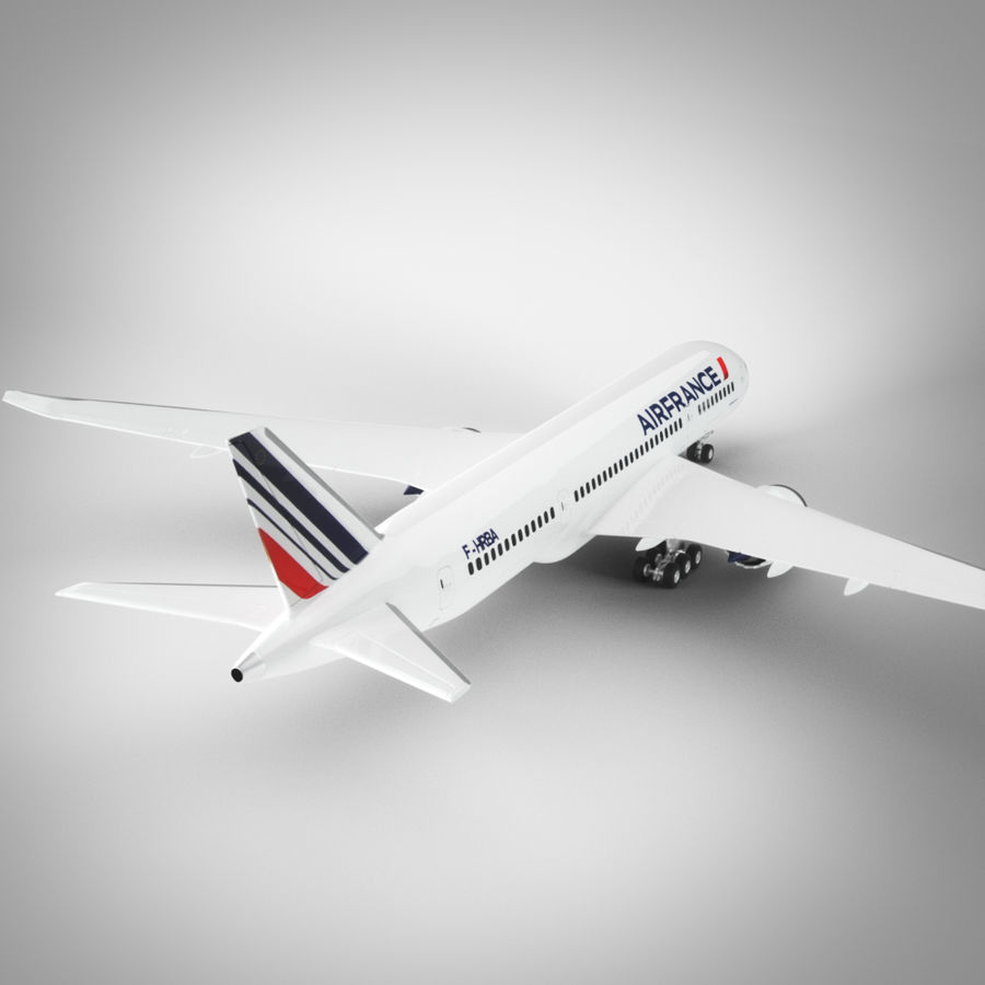 Boeing 787 Air France royalty-free 3d model - Preview no. 4
