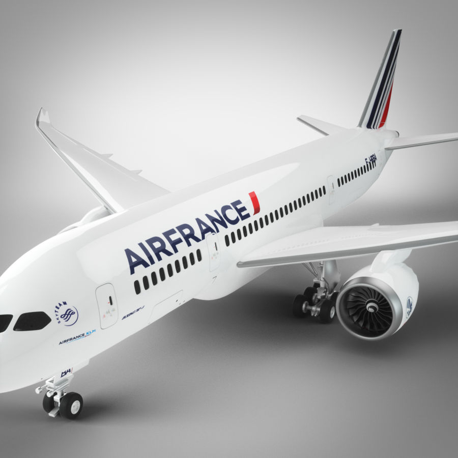 Boeing 787 Air France royalty-free 3d model - Preview no. 5