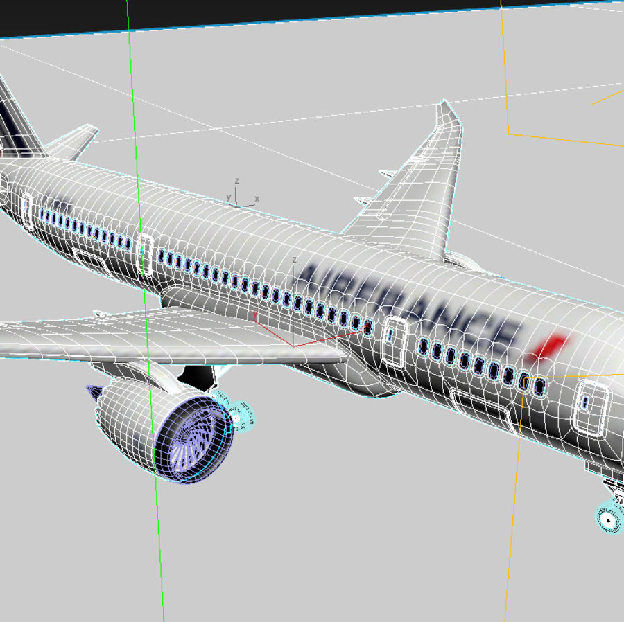 Boeing 787 Air France royalty-free 3d model - Preview no. 8