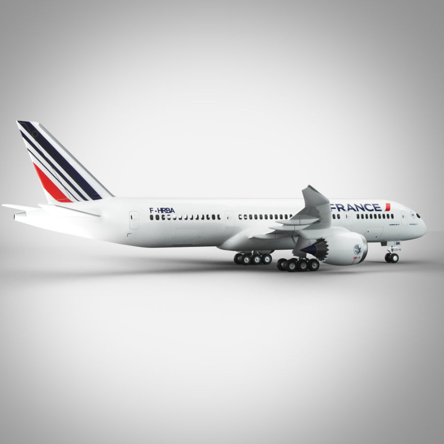 Boeing 787 Air France royalty-free 3d model - Preview no. 2