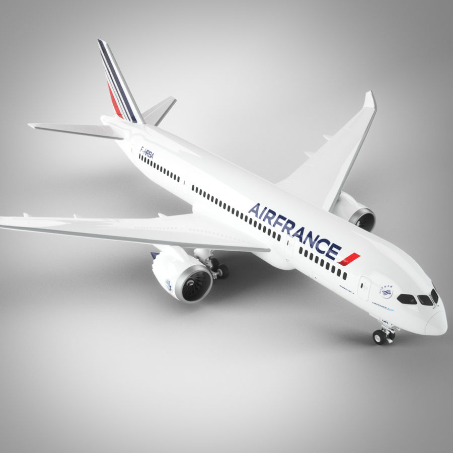Boeing 787 Air France royalty-free 3d model - Preview no. 1