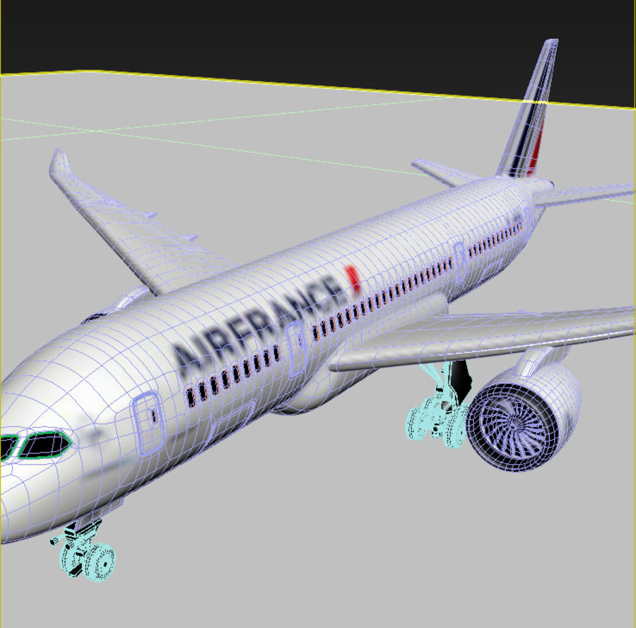 Boeing 787 Air France royalty-free 3d model - Preview no. 9