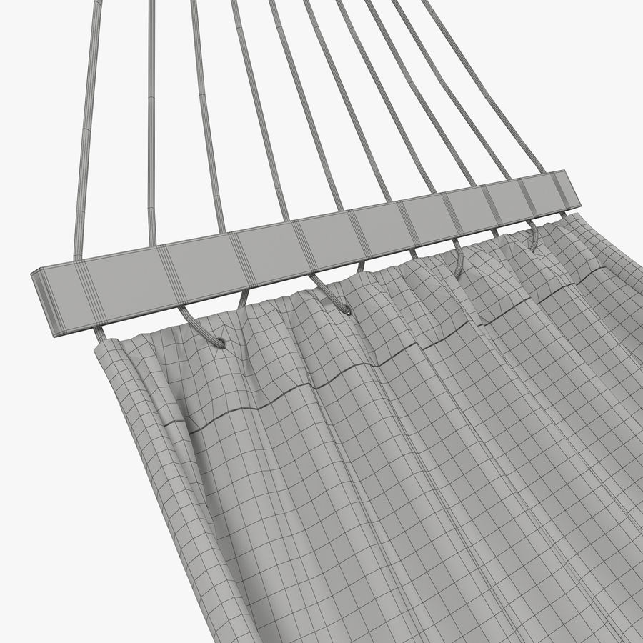 Hammock Set royalty-free 3d model - Preview no. 30