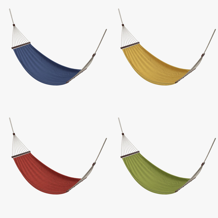 Hammock Set royalty-free 3d model - Preview no. 1