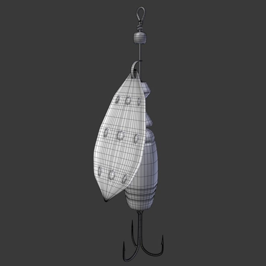 Рыболовные приманки royalty-free 3d model - Preview no. 6