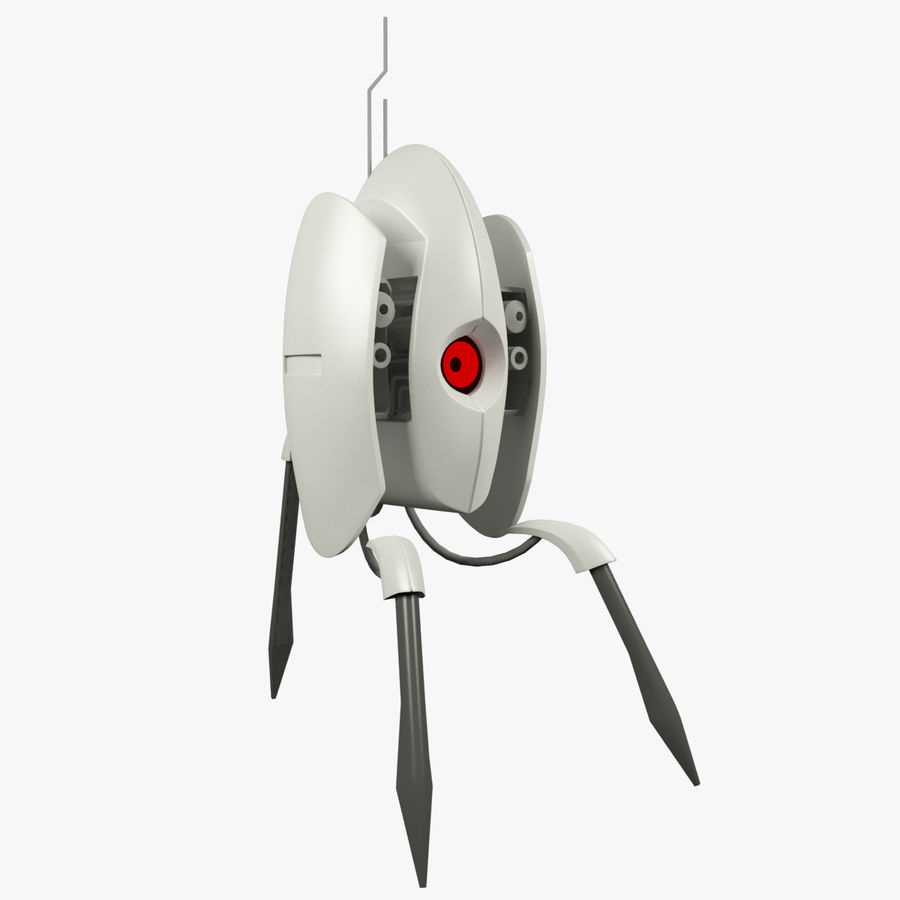 Sentry Turret From Portal 2 Royalty Free 3d Model
