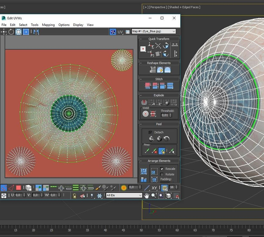 Human eye animated royalty-free 3d model - Preview no. 10