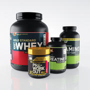 Bodybuilding supplements 3d model