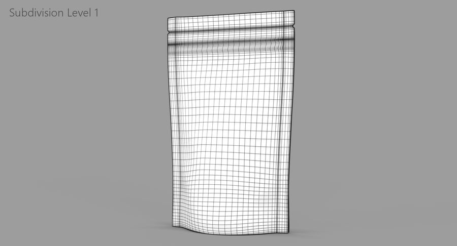 Stand Up Pouch v3 royalty-free 3d model - Preview no. 10