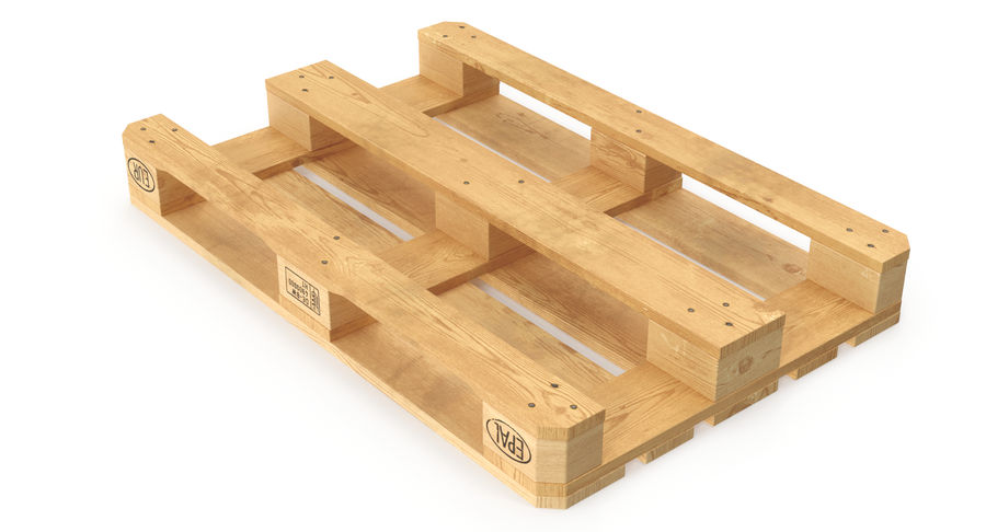 Wood Euro Pallet royalty-free 3d model - Preview no. 10