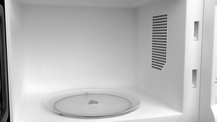 Microwave oven royalty-free 3d model - Preview no. 4