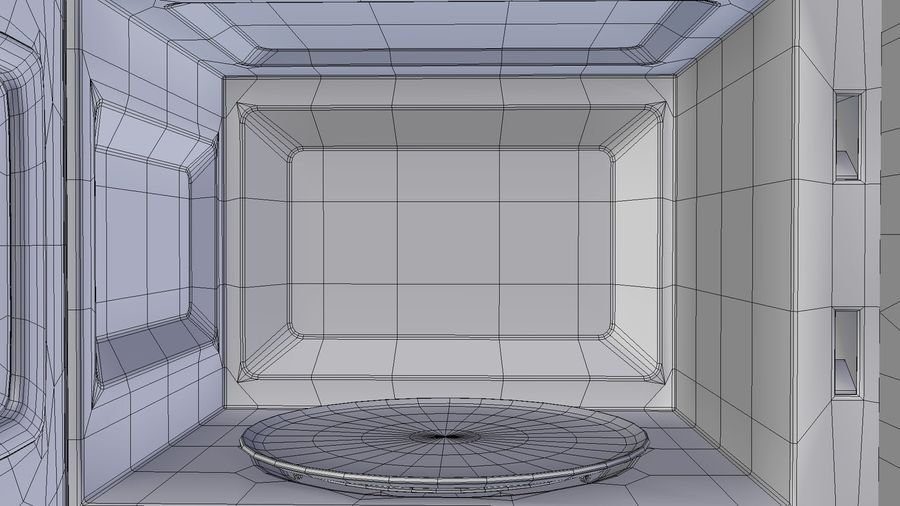 Microwave oven royalty-free 3d model - Preview no. 8