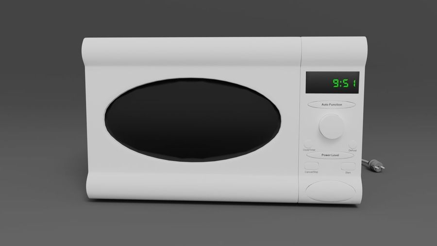 Microwave oven royalty-free 3d model - Preview no. 2