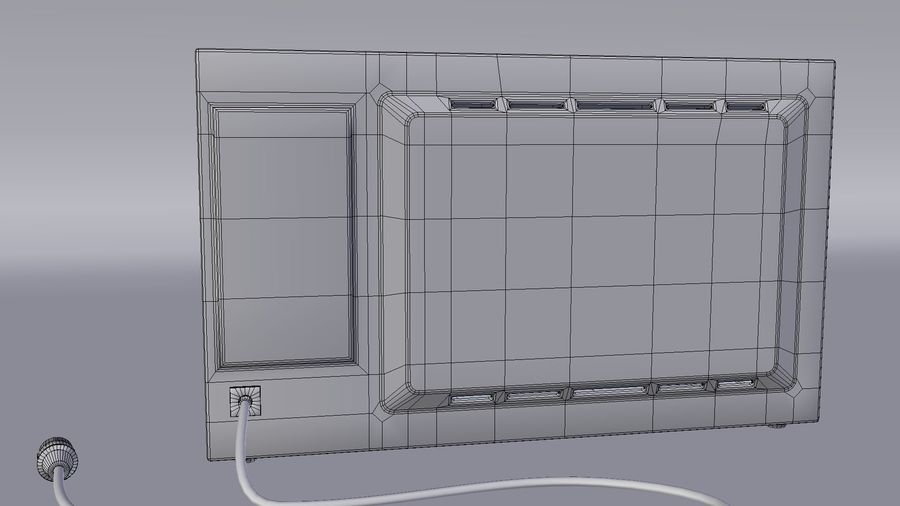 Microwave oven royalty-free 3d model - Preview no. 7