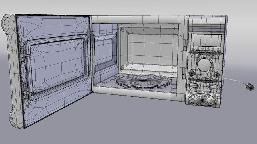 Microwave oven royalty-free 3d model - Preview no. 5