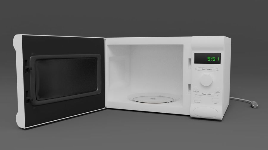 Microwave oven royalty-free 3d model - Preview no. 1