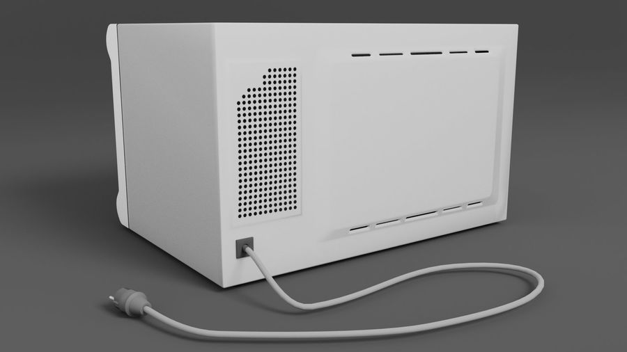 Microwave oven royalty-free 3d model - Preview no. 3