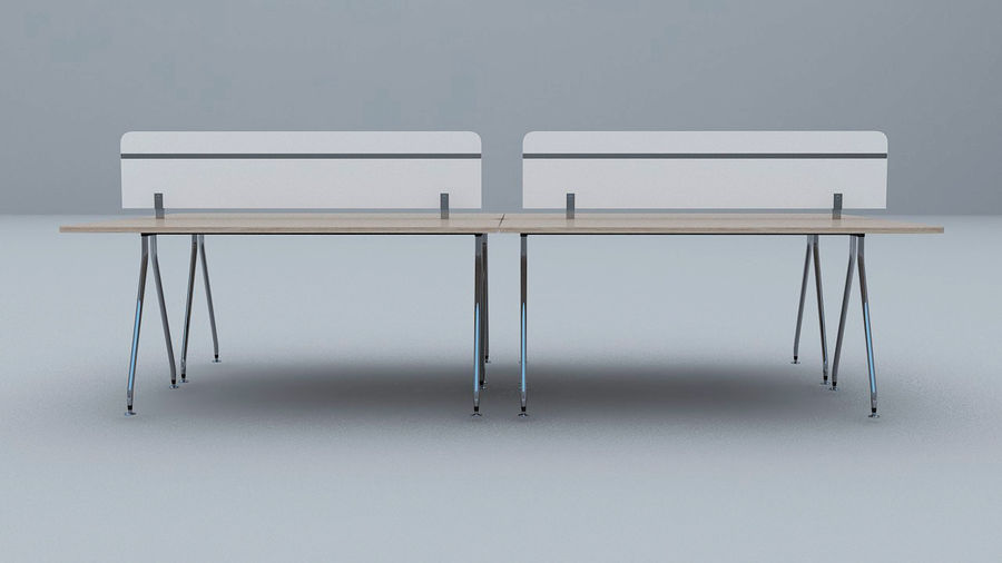 Ikea Style Modern Office Table Furniture royalty-free 3d model - Preview no. 3