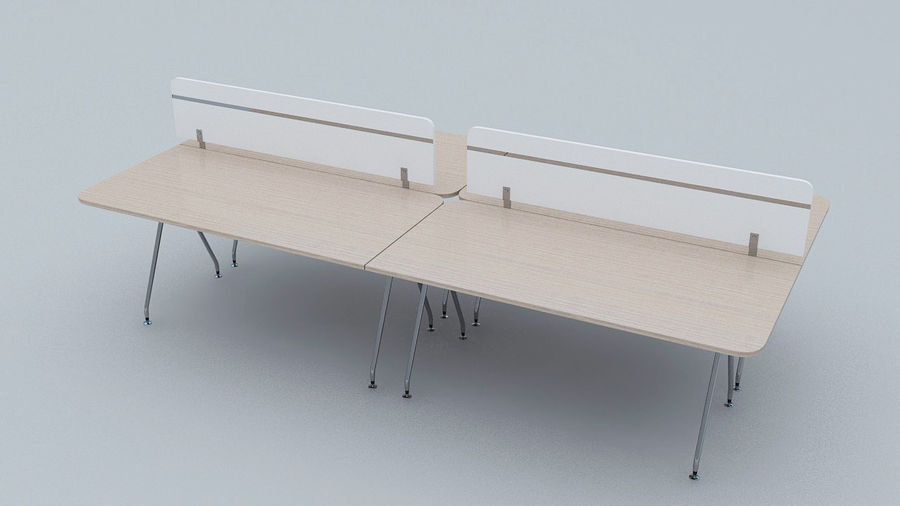 Ikea Style Modern Office Table Furniture royalty-free 3d model - Preview no. 1