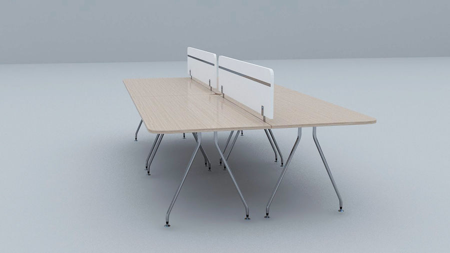 Ikea Style Modern Office Table Furniture royalty-free 3d model - Preview no. 2